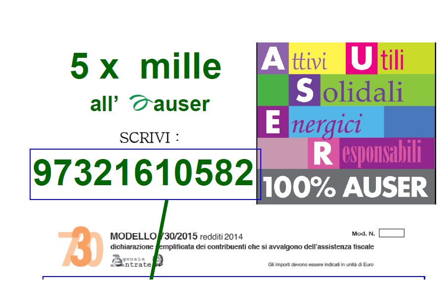 5x MILLE ALL'AUSER, FIRMA NEL TUO 730 !!!!!!